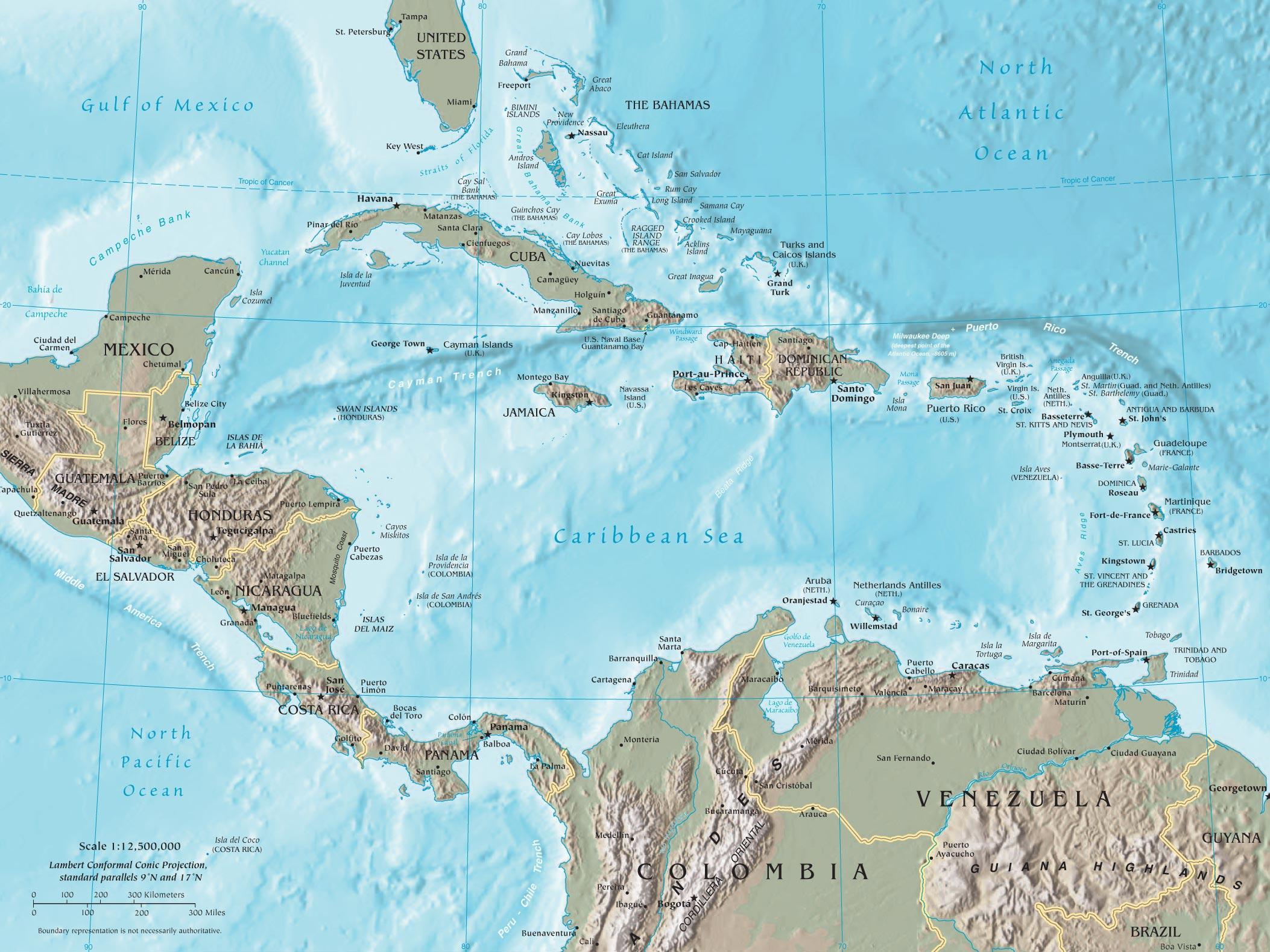 Resultado de imagen para mapa venezuela y caribe