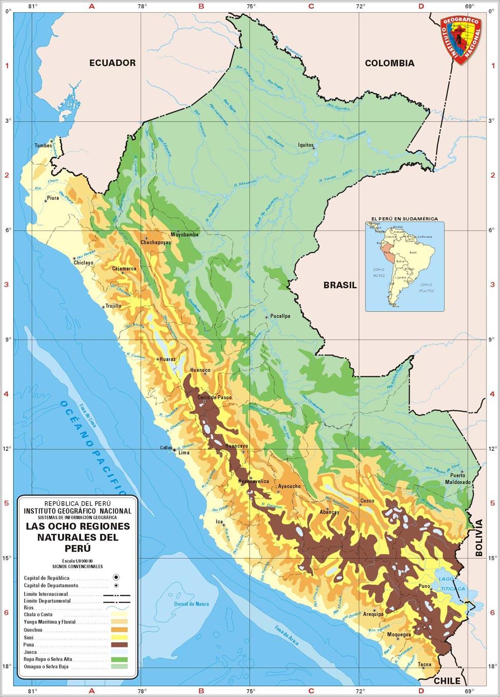 Mapas Del Peru Via Satelital